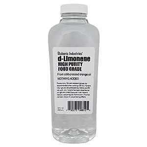 Blubonic Food Grade d-Limonene HP (Highest Purity) Orange Oil, Solvent, Medicinal, Cleaner, Degreaser, dLimonene (32 fl oz)