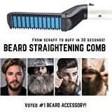 Quick Hair Beard Straightener Brush, Electric Hair Comb For Men| Man's Style Magic Massage Comb, Instant Iron Heat Curler For Hair Care Straightening/Curlying/Detangling/Volumize/DIY Modeling