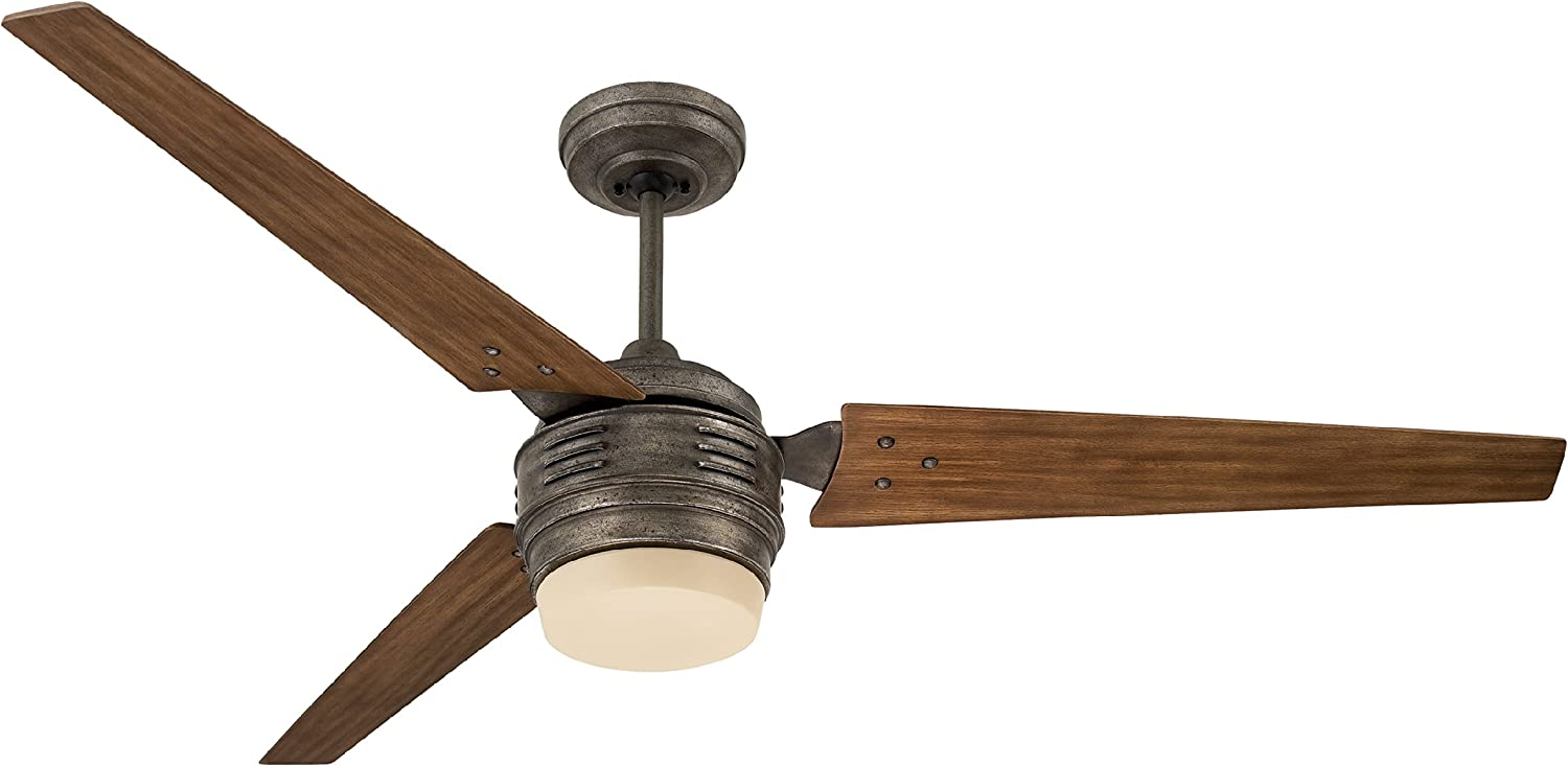 Emerson CF766LVS 4th Avenue 60-inch Modern Ceiling Fan, 3-Blade Ceiling Fan with LED Lighting and 4-Speed Wall Control