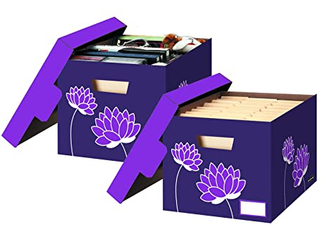 Bankers Box Letter/Legal File/Storage Boxes Purple Blossoms