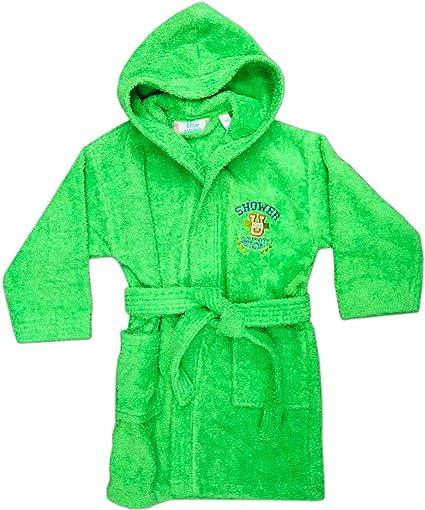 c94fa02f67 Accappatoio per Bambini in Spugna di Cotone con Cappuccio Taglia 7/8 Anni Tinta  Unita Ricamo Shower Colore Orange - Pakito: Amazon.it: Casa e cucina