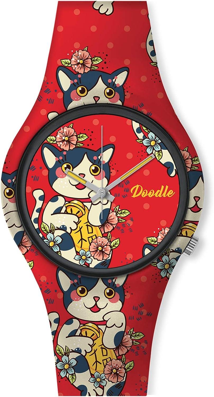 Montre Femme Doodle Graphics Mood Chat: Amazon.es: Relojes
