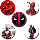 Capturing Happiness Deadpool Button pin Badge Pack Of 5