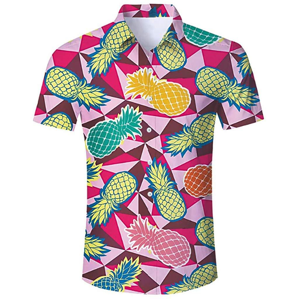 Trule Mens Summer Casual Creative Printed T-Shirt Slim Soft Comfortable Loose Short Sleeve Top Blouse