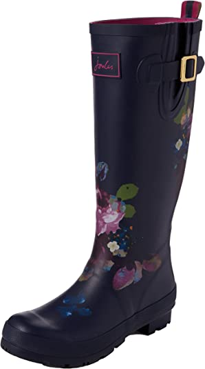 Joules T_Wellyprint, Stivali di Gomma Donna, Blu (Exclusive