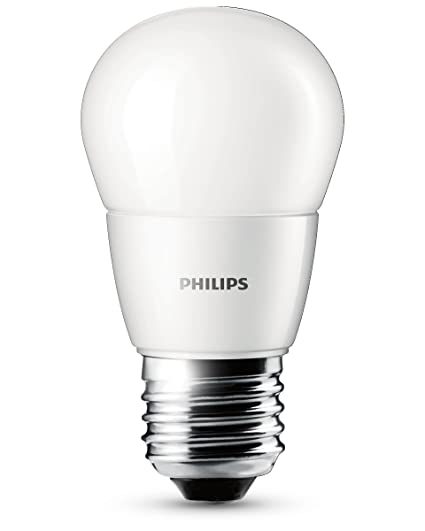 Philips 8718291786993 Bombilla LED esférica Mate E27, 3 W, Blanco
