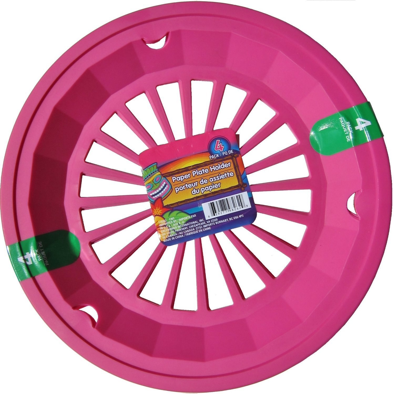 Amazon.com | Hot Pink 10-3/8\  Plastic Paper Plate Holders Set of 4 Chargers Accent Plates  sc 1 st  Amazon.com : paper plates holder - pezcame.com