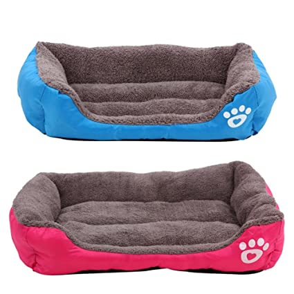Amazon.com : Occitop Pet Dog Cat Bed Puppy Cushion House Pet Soft Warm Kennel Dog Mat Blanket : Pet Supplies