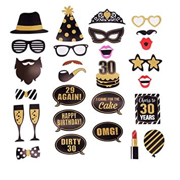 Amazon 30th Birthday Photo Booth Props Decorations For Her Him