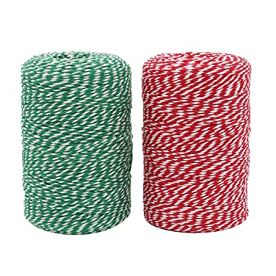 Vivifying Bakers Twine, 656 Feet x 2 Rolls Cotton String for DIY Crafts, Christmas Gift Wrapping : Office Products