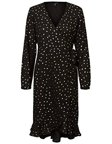 Dots frills dress VMHENNA dot foil by Vero Moda