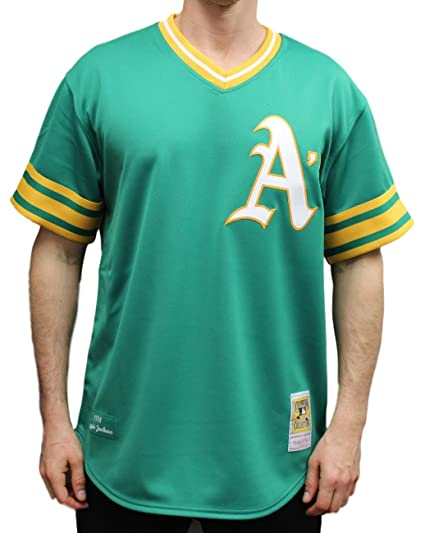 585290114 Image Unavailable. Image not available for. Color  Mitchell   Ness Reggie  Jackson Oakland Athletics MLB Authentic ...
