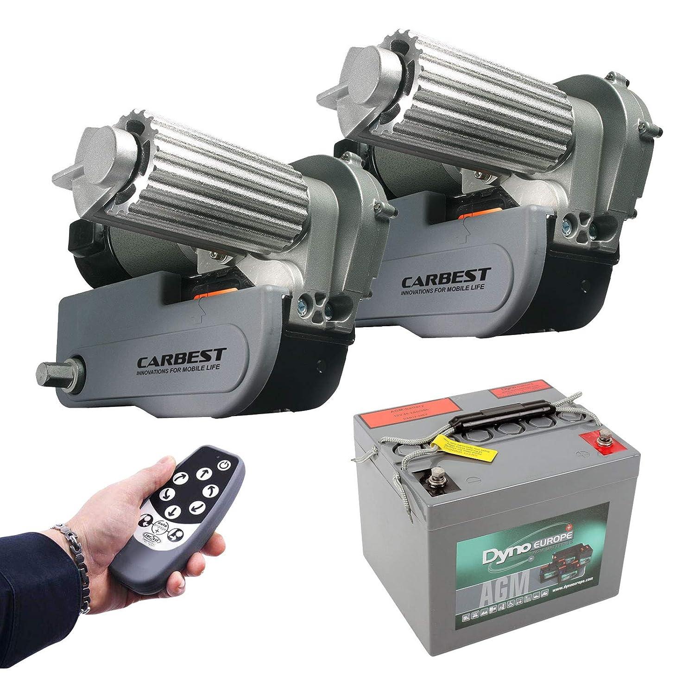 Carbest Cara-Move automatische Rangierhilfe Set inkl 40 Ah Batterie, Ladegerä t max Last 2250Kg 1 &2 Achser Wohnwagen