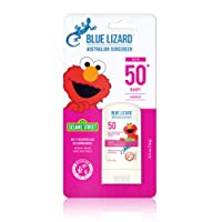 BLUE LIZARD Baby Mineral Sunscreen Stick with Zinc Oxide, SPF 50+, Water Resistant, UVA/UVB Protection - Easy to Apply, Fragrance Free.5 oz