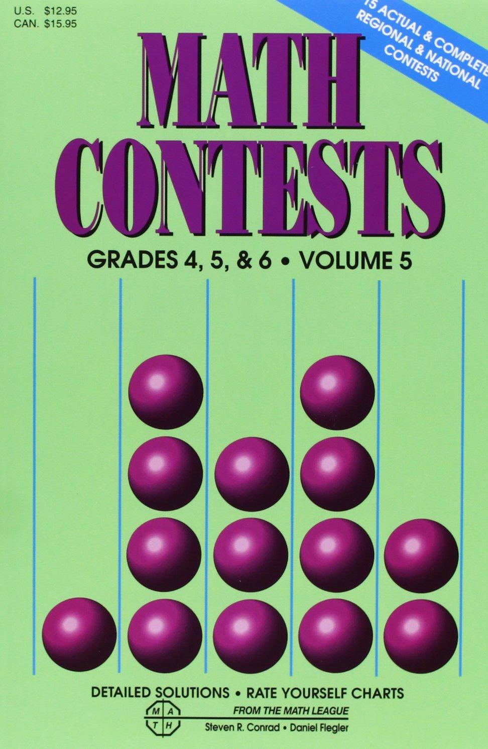Read Online Math Contests, Grades 4, 5 & 6, Vol. 5 ebook