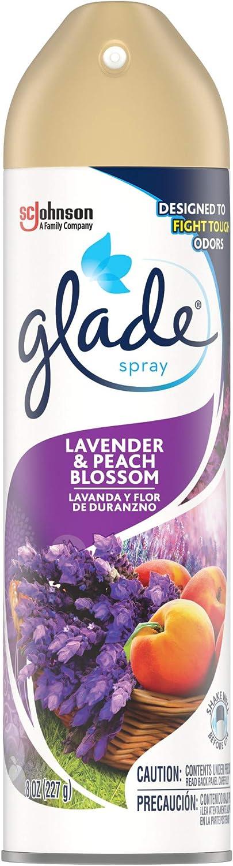 Glade Air Freshener, Room Spray, Lavender & Peach Blossom, 8 Oz, 12 Count