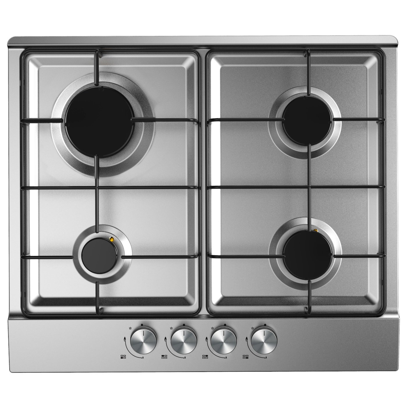 Cookology GH600SS Built-in Gas Hob in Stainless Steel | 60cm & Auto Ignition