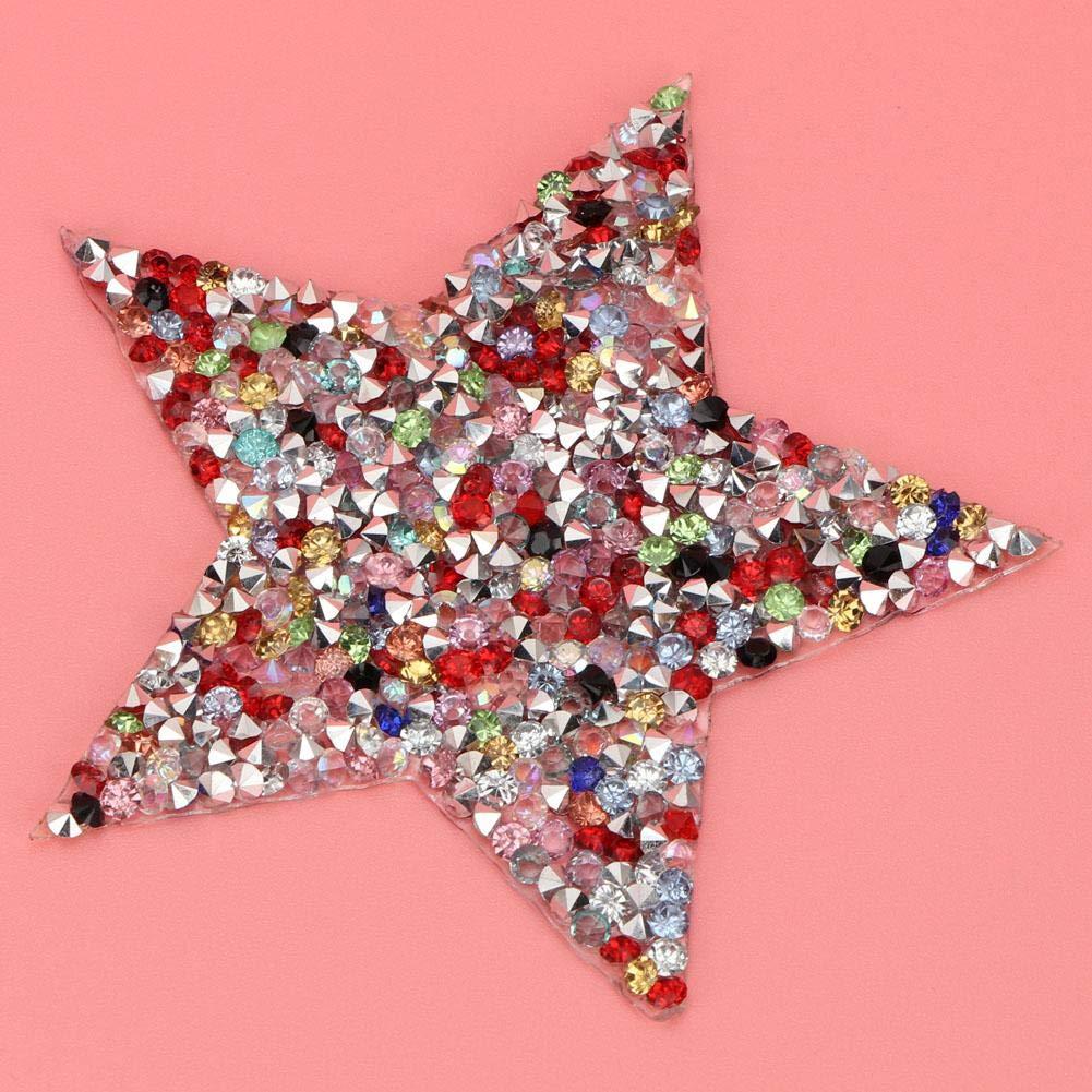 Gris HEEPDD 10 unids Rhinestone Estrellas Apliques DIY Cristales Parches para Zapatos Bolsos Sombreros Ropa Accesorios de la joyer/ía
