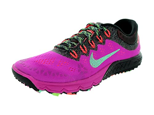 newest 93237 f7f56 Nike Women s Air Zoom Terra Kiger 2 Fuchsia Flash Green Glow Black Running  Shoe