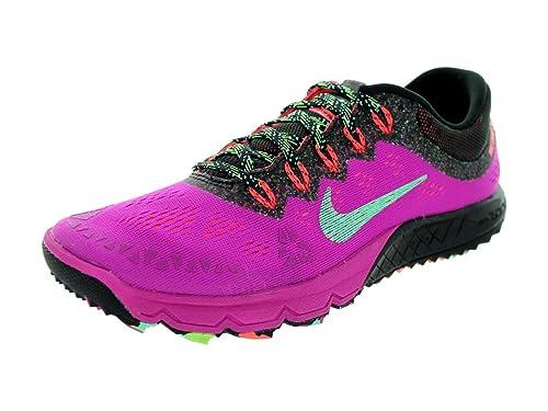 c7e62c223945 Nike Women s Air Zoom Terra Kiger 2 Fuchsia Flash Green Glow Black Running  Shoe
