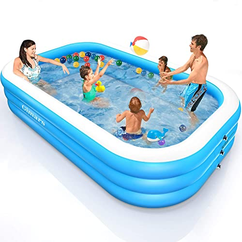 Gimars Thicker No Leaking 93 x 57 x 21 Inch Inflatable Swimming Pools