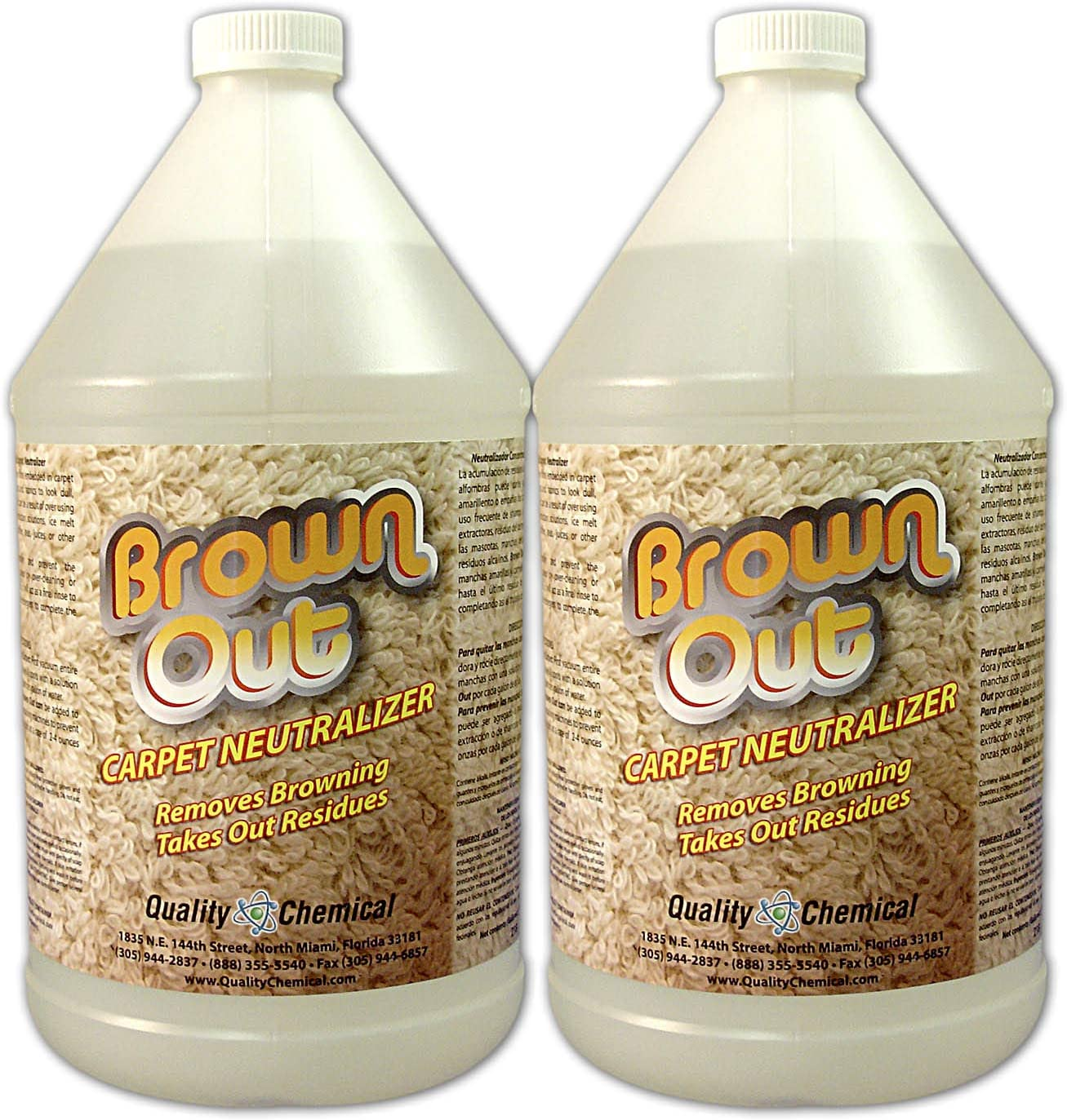 Brown Out Carpet Neutralizer and Stain Remover-2 gallon case