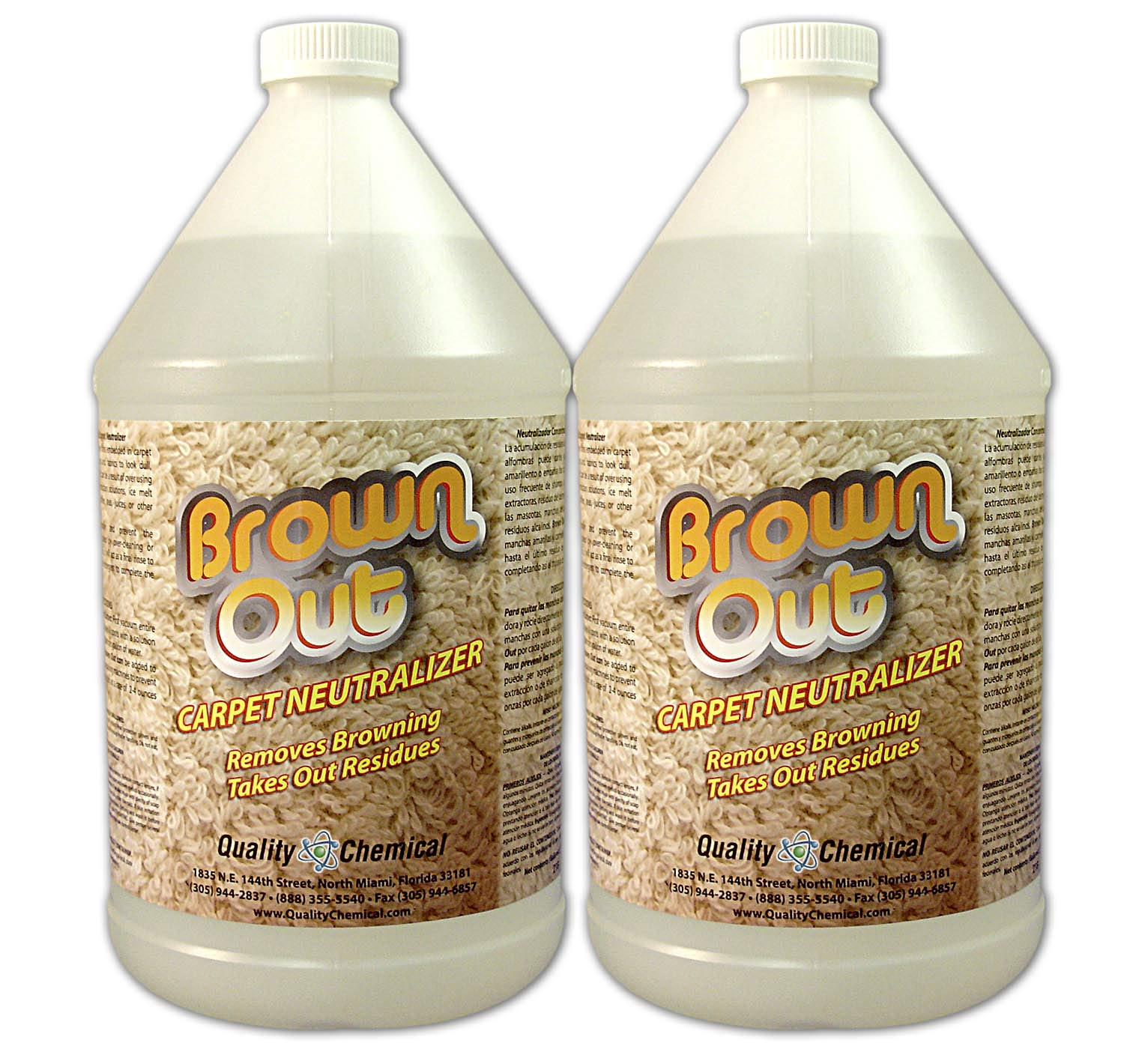 Brown Out Carpet Neutralizer and Stain Remover-2 gallon case by Quality Chemical