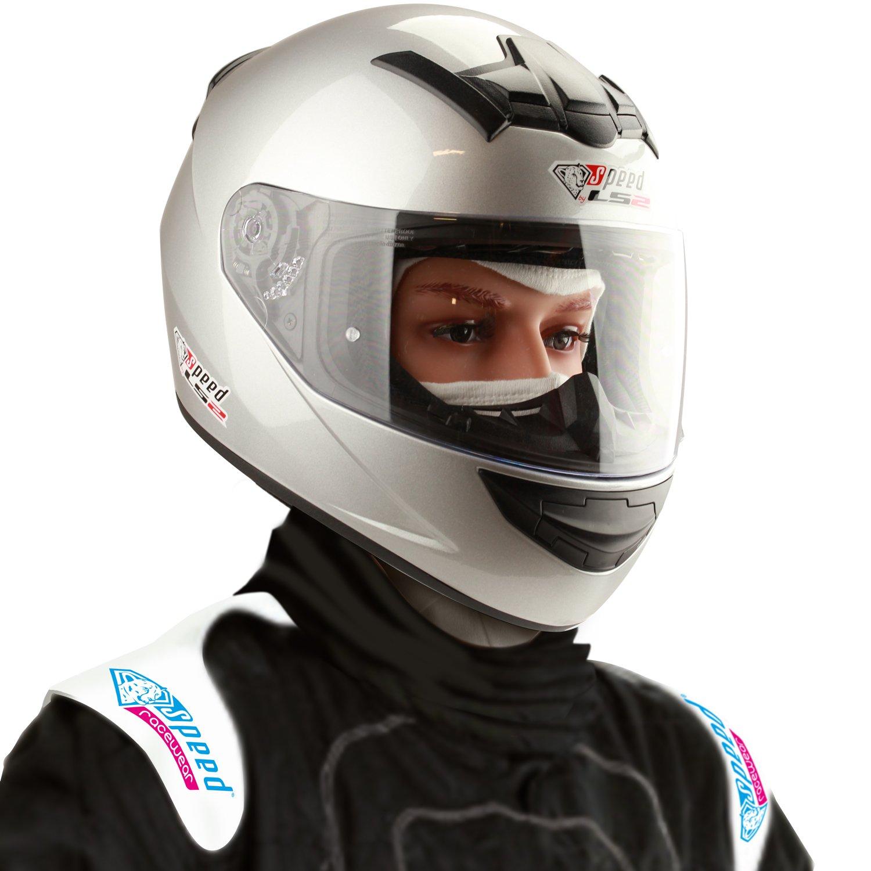 Amazon.es: Speed Racewear LS2 Rookie FF352 Casco Integral Plata - Edición Especial Kart & Moto Casco