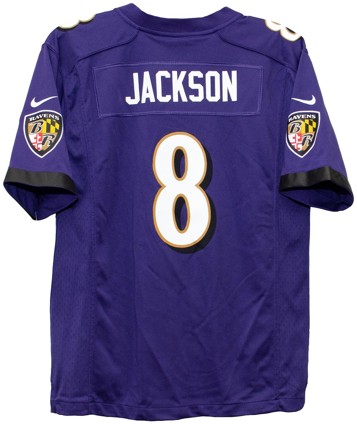 new product fe944 84831 Amazon.com   Nike Lamar Jackson Baltimore Ravens Team Color Youth Game  Jersey   Sports   Outdoors
