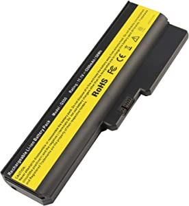 Futurebatt 6 Cell 5200mAh Laptop Battery for Lenovo 3000 B460 B550 G430 G450 G455 G530 G550 G555 N500, Ideapad B460 G430 V460 Z360 Notebook