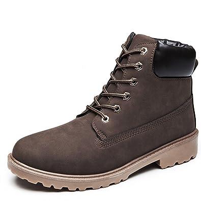 1cda8360bd4b2a ukStore Damen Herren Worker Boots Schnür Stiefeletten Herbst Winter Outdoor  Warme Gefütterte Winterstiefel Wasserdicht Stiefel