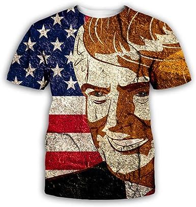 Camiseta de Manga Corta para Hombre Bandera Americana Camiseta de Manga Corta Transpirable y de Secado rápido con impresión 3D: Amazon.es: Ropa y accesorios