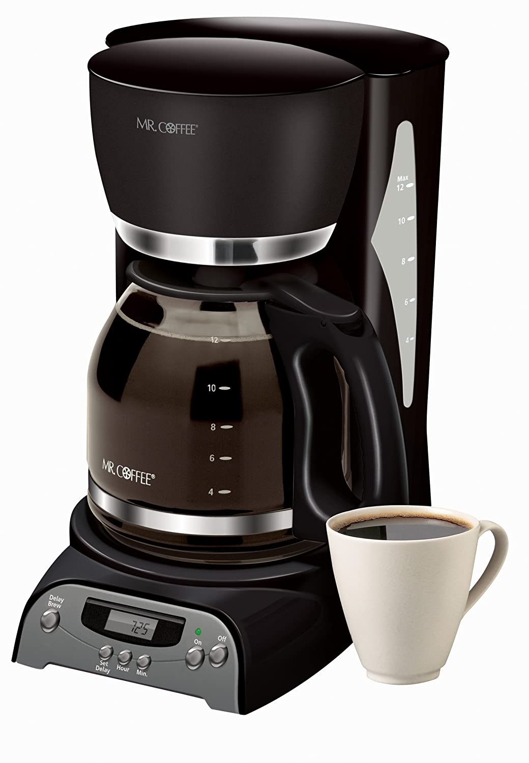 Amazon.com: Cafetera programable Sr. Cafe , Negro: Kitchen ...