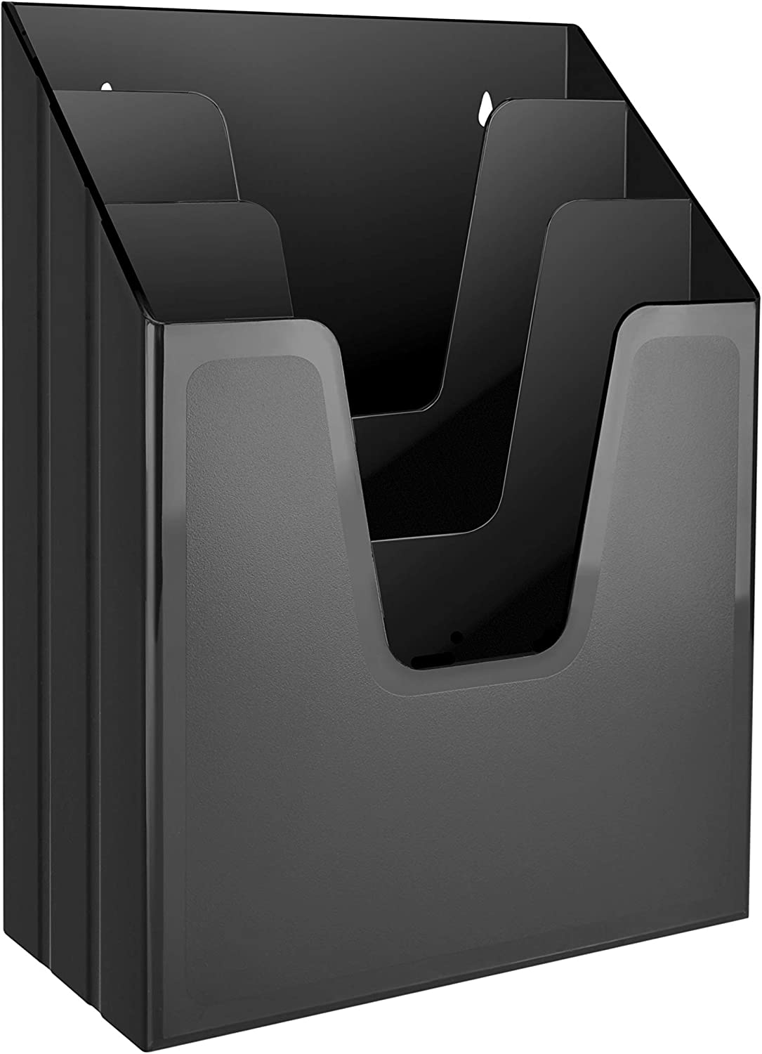 Acrimet Vertical Triple File Folder Organizer (Black Color)