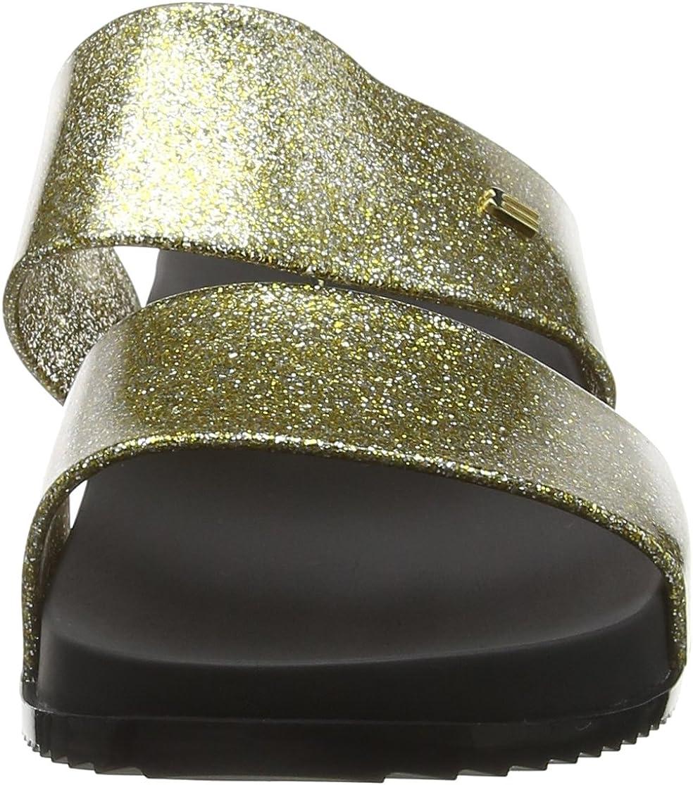 Melissa Womens Cosmic 19 Melflex Slip On Slide Gold Glitter