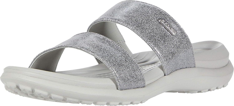 Crocs Women's Capri Two-Strap Flip Flop | Casual Comfortable Sandals Water Shoe