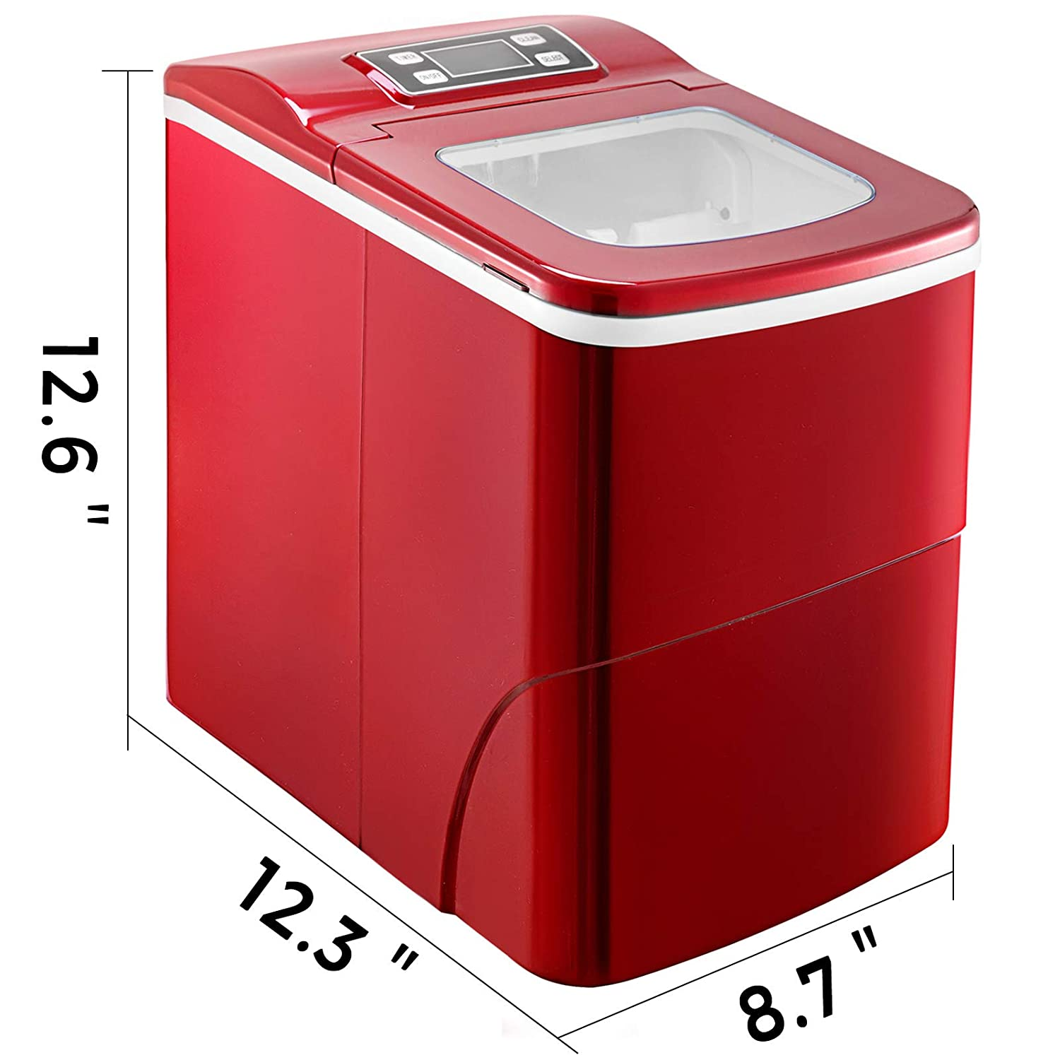 VBENLEM 26LBS//24H Portable Ice Making Machine Countertop Bullet Ice Maker with Control Panel Ice Scoop Great for Home Kitchen Bars Parties Commercial Use