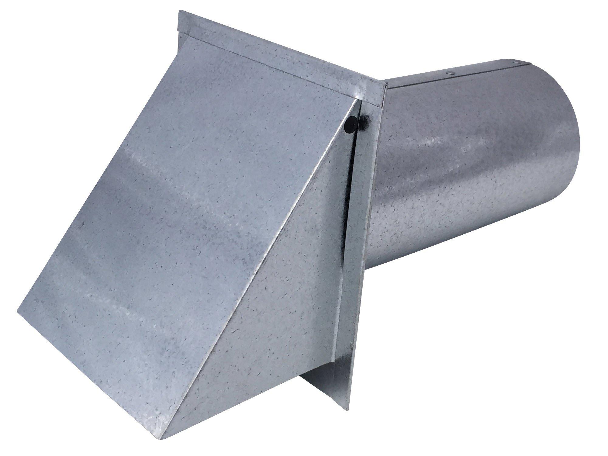 4 Inch Wall Vent Galvanized Damper & Screen (4 Inch Diameter) - Vent Works