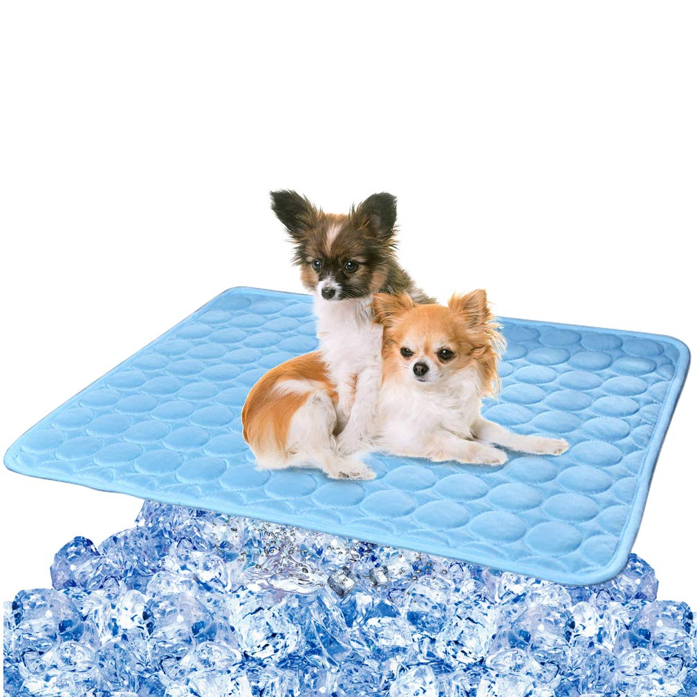 Pet Dog Cooling Mat Pad for Dogs Cats Ice Silk Mat Cooling