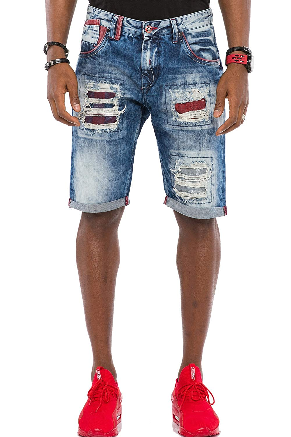 Cipo & Baxx Herren Jeans Shorts dirty washed