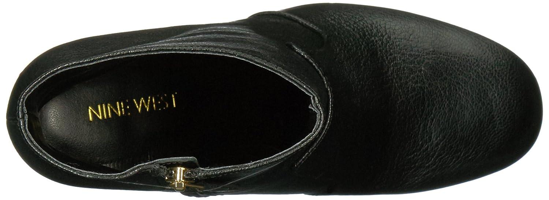 Nine West Women's Jilene Ankle Boot B06VV834LN 12 B(M) US|Black Leather