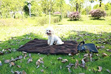 Dixinla Cama de Perro Amortiguador del Perro al Aire Libre Portable Mascota Mat Plegable Gato Estera Caliente Pet Manta Cordero Polar M: Amazon.es: Hogar