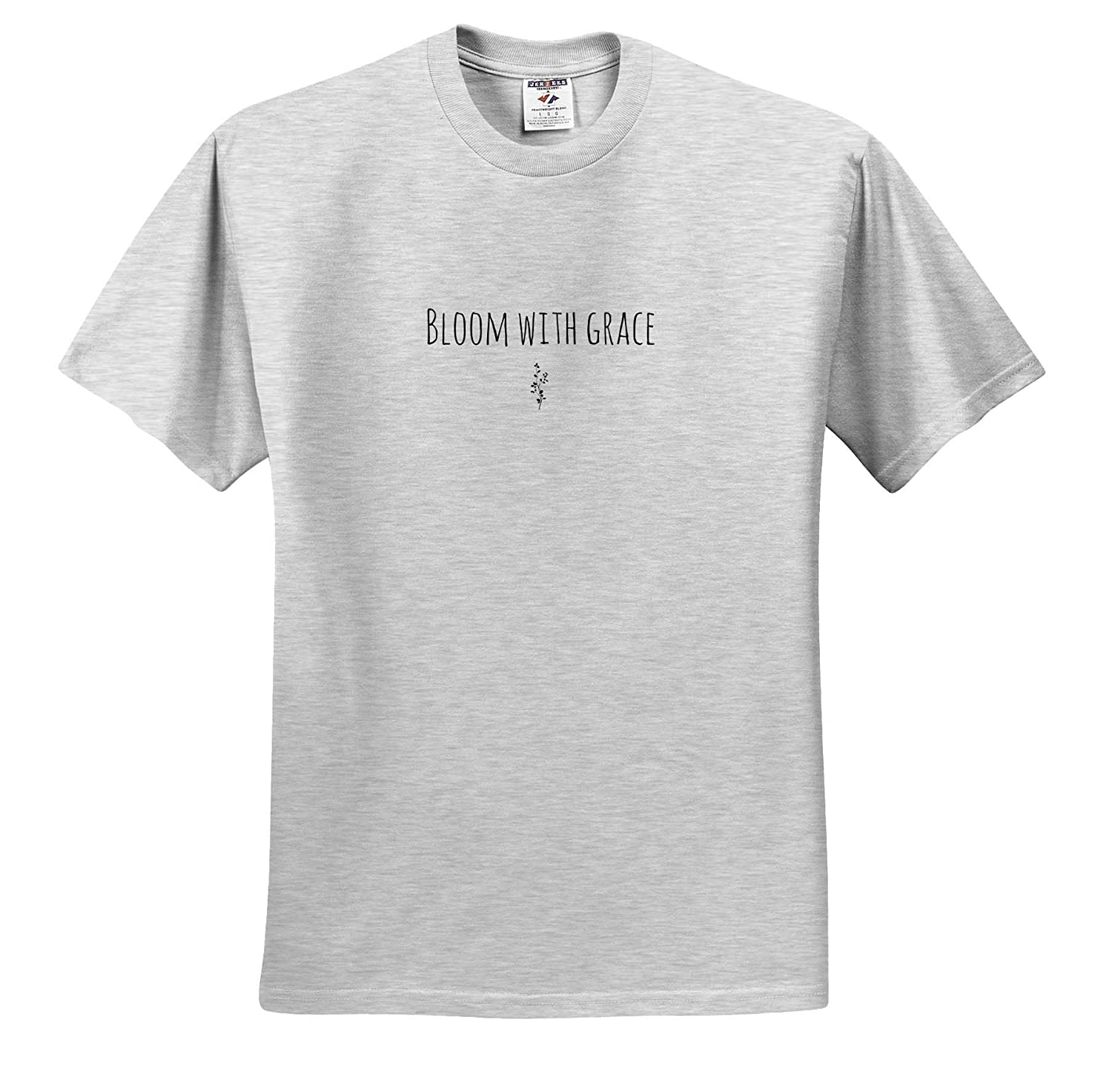 ts/_316936 3dRose Gabriella-Quote Image of Bloom with Grace Quote Adult T-Shirt XL