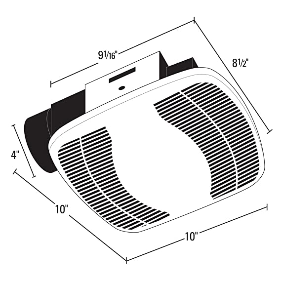 Air King Bfq75 Energy Star Qualified Snap In Exhaust Fan 70 Cfm