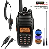 TYT UV8000E 10W High Power Dual Band Two-Way Radio, Walkie Talkie with Cross-band Repeater Function & 3600mAh Battery, VHF 136-174/ UHF 400-520MHz Transceiver, with Car Charger, 2 Antennas, Cable