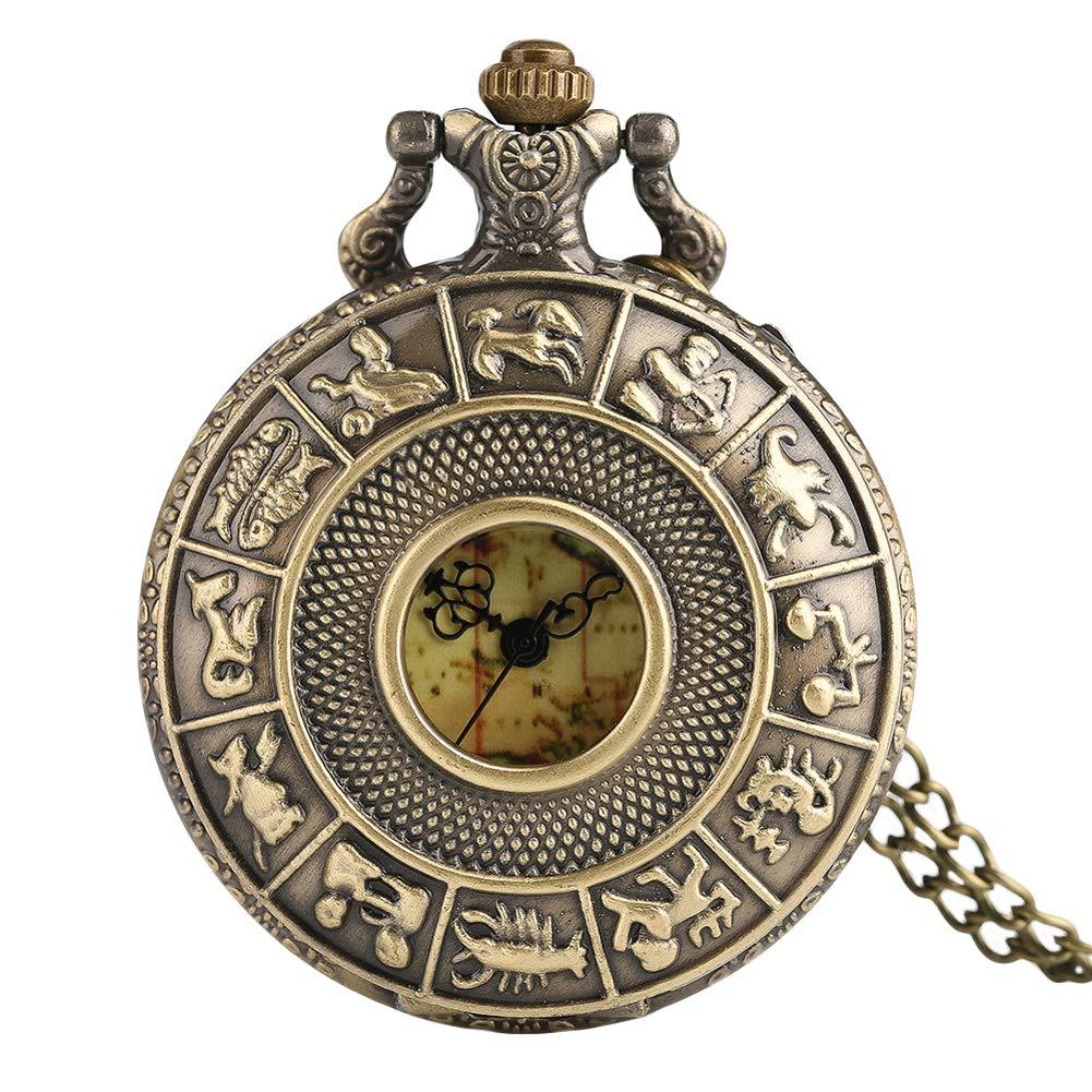 Doce Relojes de Bolsillo Antiguos, diseño de Mapa de Australia, con Constelaciones de la Cara, Caja de Cuarzo, Relojes de Bolsillo para Hombres y Mujeres, ...