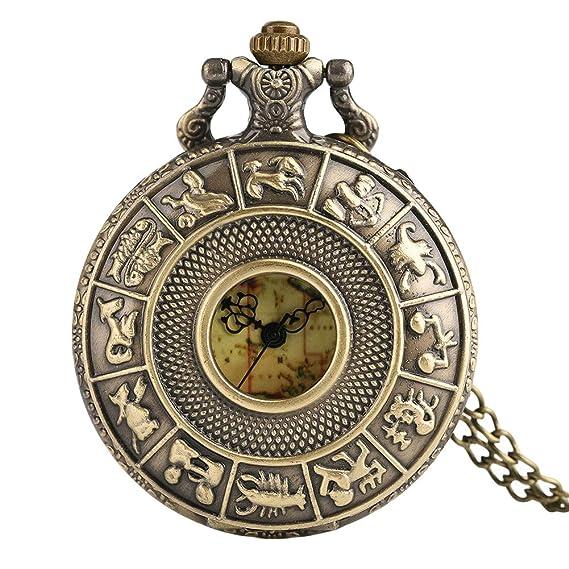 Doce Relojes de Bolsillo Antiguos, diseño de Mapa de Australia, con Constelaciones de la