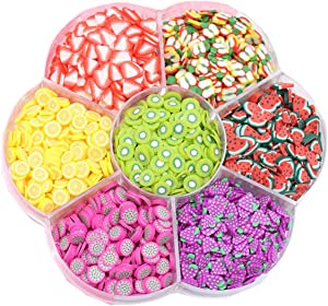 3D Fruit Slices for Nail Art Decorations Supplies Slime Slices (7 Fruit Style)