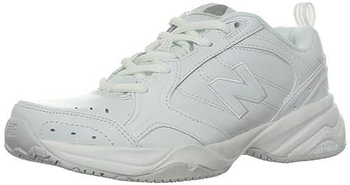 60f9772cbb8ed New Balance Women's WX626 Slip Resistant Training-W, White, 7.5 D US ...