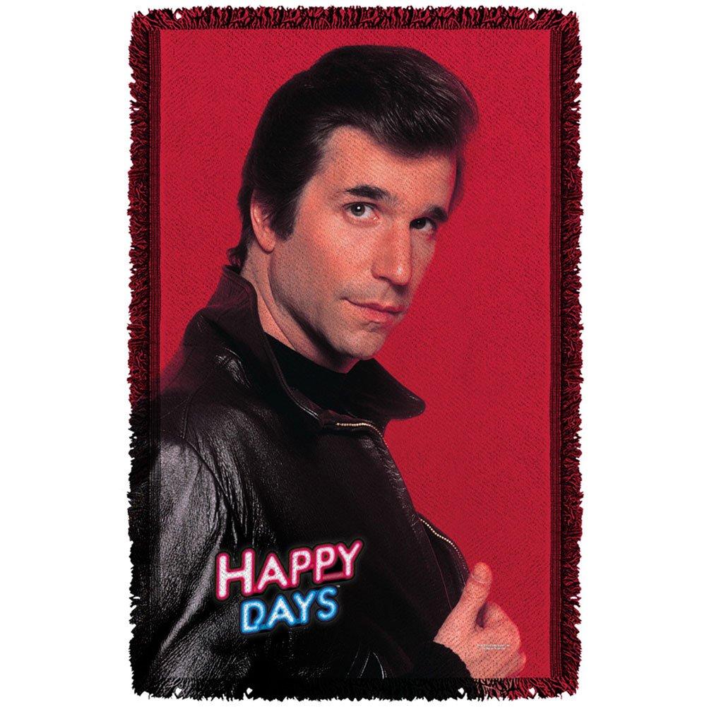 Happy Days 1974 Family Teen Comedy Sitcom TV Series The Fonz Woven Throw Blanket